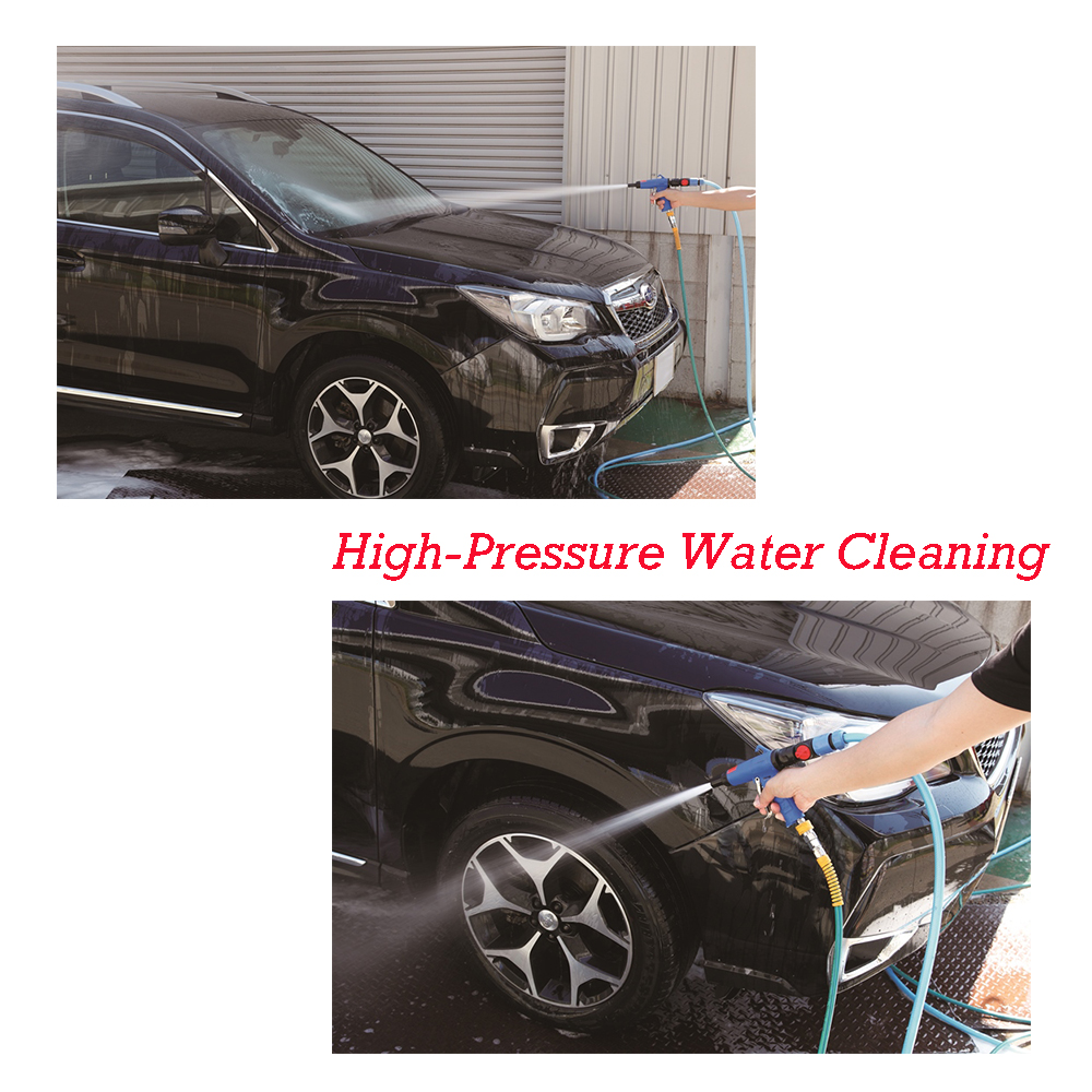 High-pressure water cleaning