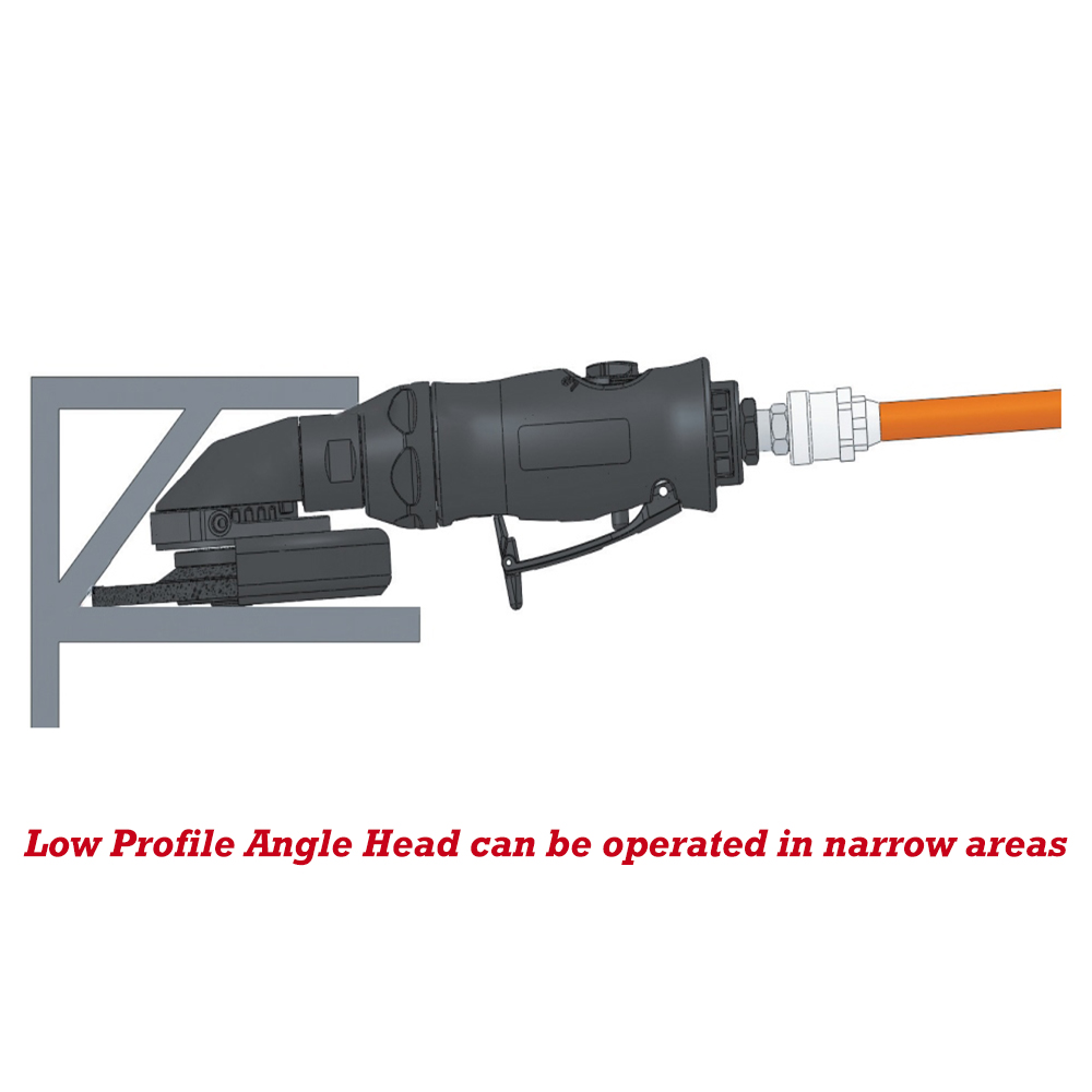 Low Profile Angle Head in narrow areas