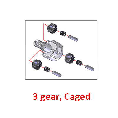 3 gear, caged