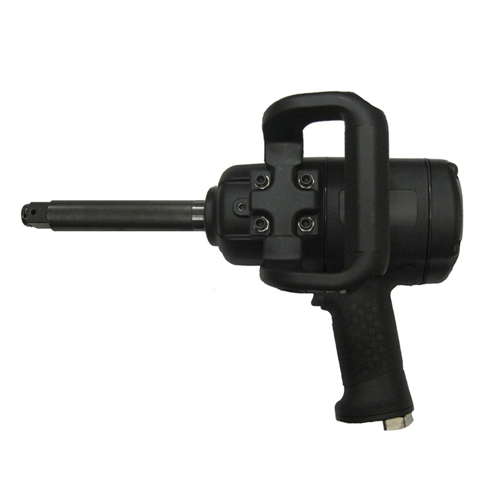 "Model No.: 61526L, 1"" with 6"" Extended Anvil, Composite Air Impact Wrench Max. Torque: 2,200Ft-lbs. (2,981Nm), 5,500RPM"
